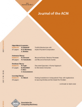 Journal of the Association for Computing Machinery