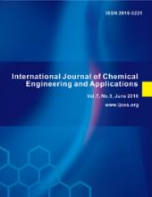 International Journal of Chemical Engineering and Applications