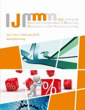 International Journal of Materials, Mechanics and Manufacturing