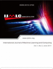 International Journal of Machine Learning and Computing